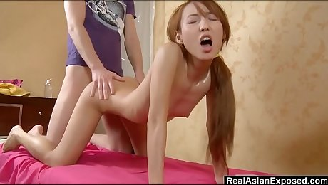 RealAsianExposed - Ajenda's tight sexy body drives her masseur wild
